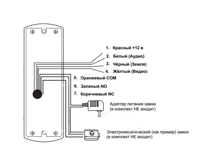 Вызывная панель схема подключения фото 355